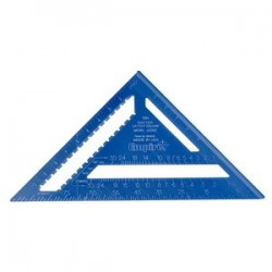 Empire Level - E3992 - EMPIRE E3992 12-Inch Lightweight Brass Laser Etched Rafter Square