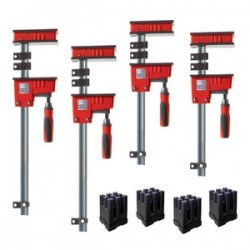 Bessey Tools - KRK2450 - Bessey KRK2450 Multi-Size Revo K Body Fixed Jaw Parallel Clamp Kit - 4pc