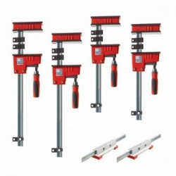 Bessey Tools - KRX2440 - Bessey KRX2440 Multi-Size REVO K Body Fixed Jaw Parallel Clamp Kit - 4pc