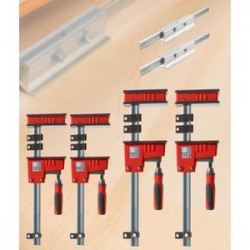 Bessey Tools - KRX2450 - Bessey KRX2450 Multi-Size REVO K Body Fixed Jaw Parallel Clamp Kit - 4pc