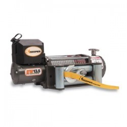 Keeper - KW13122 - Electric Winch 13, 500 lbs Single Line Pull, 12 V DC, w/Wireless & Roller