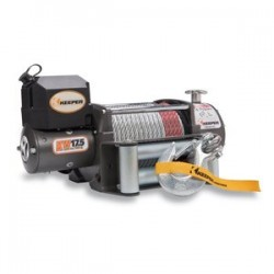 Keeper - KW17122 - Electric Winch, 17, 500 lb. Single Line Pull, 12 V DC with Wireless Remote