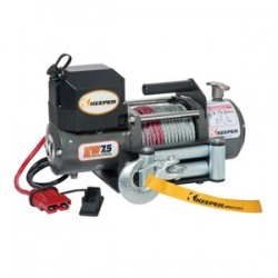 Keeper - KW75122RM - Electric Winch, 7, 500 lb. Single Line Pull, 12 V DC with Wireless Remote