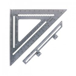 Swanson Tools - S0107 - Big 12 Aluminum Speed Square W/black Gra