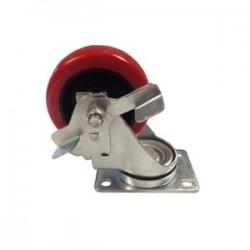 EZ Roll - Z-50-MOPP-S-SB - 5x1-1/4in Polyurethane/polyolefin Swivel W/brake
