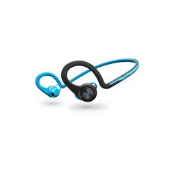 Plantronics - 200450-01 - Plantronics Backbeat Fit Wireless Headphones + Mic - Stereo - Blue - Wireless - Bluetooth - 33 ft - Earbud, Over-the-ear - In-ear