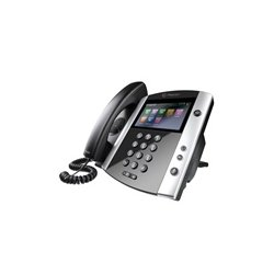 Polycom - 2200-446000-025 - VVX 600 16-Line Business Media Phone with Built-In Bluetooth & HD Voice, Compatible Partner Platforms: 20, POE (Ships Without Power Supply)