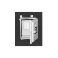 GAI-Tronics - 255-001LD - Industrial Telephone Enclosure With 630a Wallplate Jack & Keylock Door