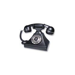 TeleMatrix - 260091 - Single Line, Retro Desk Phone, Black