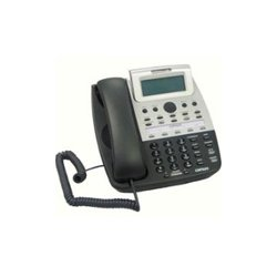 Cortelco - 275000-TP2-27S - 7 Series 4-Line Telephone w Built-In Auto Attendant and Voice Mail, Black