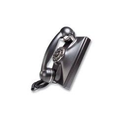 TeleMatrix - 290091 - Single Line, Retro Wall Phone, Black
