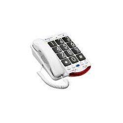 Clarity - 76560-000 - (76560-000) JV35 Amplified Telephone with Talk Back Numbers; Black Buttons