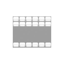 Baudcom - 8020 - Overlay Vb-4421x 16k Gray (pack Of 25)