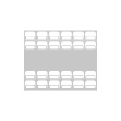Baudcom - 8021 - Overlay Vb-4422x 22k Gray (pack Of 25)