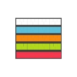Baudcom - 8800-MULTI - Overlay Misc. 110 Block 50 sh per pk, multi colors