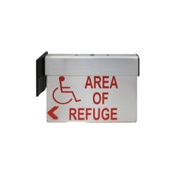 Viking - ARS-LR100 - Lighted Double Sided Wall/Ceiling Mount Sign (For Above the Area Of Refuge (Stairwell Exit) Door)