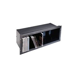 Middle Atlantic Products - CD - CD Holder, 4 Rack Units, Steel, Brushed and Anodized Finish