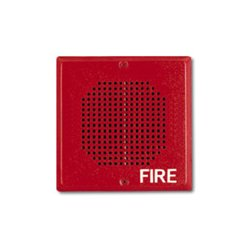 Wheelock - CH70-24-R - Wall/Ceiling Mount Chime, Square, 24 VDC, Red