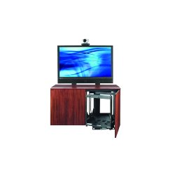 Avteq - CREDENZA2-V - Avteq CREDENZA2-V A/V Equipment Stand - 52 to 65 Screen Support - 29.5 Height x 53.8 Width x 23 Depth - Oak