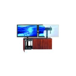 Avteq - CREDENZA3-V - Avteq CREDENZA3-V A/V Equipment Stand - 60 to 103 Screen Support - 29 Height x 79 Width x 24 Depth - Oak