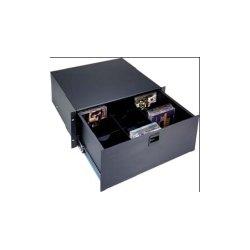 Middle Atlantic Products - D4LK - Middle Atlantic Products D4LK Text Drawer Rack Shlef - 4U Wide - Black