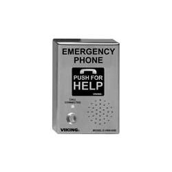 Viking - E-1600-03B-EWP - ADA Compliant Stainless Steel Vandal Resistant, Emergency Phone with Dialer and Voice Announcer, Surface Mount Only with Enhanced Weather Protection (EWP)