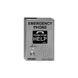 Viking - E-1600-03B-CE - ADA Compliant Stainless Steel Vandal Resistant, Emergency Phone with Dialer and Voice Announcer, Surface Mount Only with CE Mark