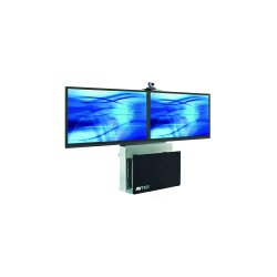 Avteq - ELT-2000L - Avteq Elite Technology Stand - Up to 70 Screen Support - 58.5 Height x 43 Width x 12 Depth - Tempered Glass, Steel
