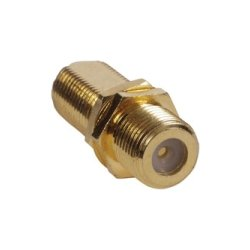 "Hubbell - FCG100 - AV Module, F-Connector F/F Coupler, 3/8"", Bulk Connector, Gold (Pack of 100)"