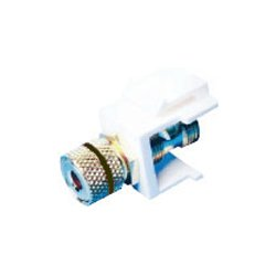 Channel Vision - G-BJB-W - Channel Vision G-BJB-W Audio Connector - 10 Pack - Banana Jack Female - White