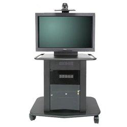 Avteq - GMP-300L-TT1 - Avteq GMP-300L-TT1 Display Stand - Up to 65 Screen Support - 375 lb Load Capacity - 1 x Shelf(ves) - Locking Door - 42 Height x 76 Width x 31 Depth - Glass, Steel