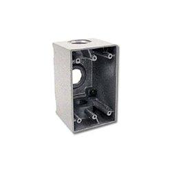 """Hubbell - HIWP75GY - Hi-Impact Weatherproof Device Box, 0.75"""" Knockout, NEMA 3R, Gray"""