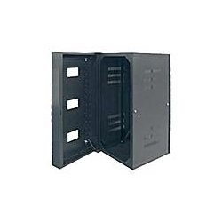 "Hubbell - HSQ48S - QuadCab Wall Mount Cabinet, 48"" H x 20"" D, Solid Door, Black **Drop Ship Only**"