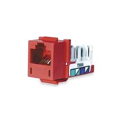 Hubbell - HXJ5ER - Modular Jack, Red, Plastic, Series: Standard, Cable Type: Category 5e