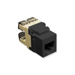ICC - IC1076F0BK - ICC Voice, RJ-11/14/25, HD, Modular Connector, Black - 1 Pack - 1 x RJ-11 Female - Black