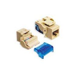 ICC - IC1078E5BL - ICC IC1078E5BL Snap-In Jack, 8P8C, EZ Style, CAT5e, Keystone, Blue