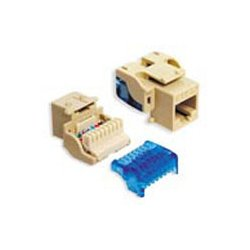 ICC - IC1078E5IV - ICC Cat 5e, EZ, Modular Connector, Ivory - 1 Pack - 1 x RJ-45 Female - Nickel - Ivory