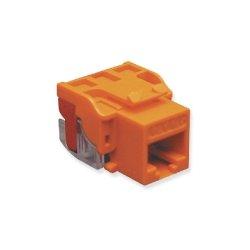 ICC - IC1078L6OR - ICC IC1078L6OR Snap-In Connector, EZ, RJ45, Cat6, Voice Grade, 8P8C, Orange