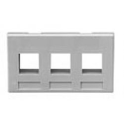 ICC - IC107FM3-GY - ICC Faceplate - 3 x Total Number of Socket(s) - Gray