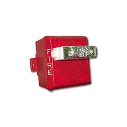 Wheelock - MTWP-2475W-FR - Series MTWP Multitone Horn, Strobe, Wall, Weatherproof, 24 VDC, 75CD, Red