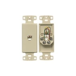 Hubbell - NS770I - NetSelect Molded-In Voice & Data Decorator Frame, 1 RJ11 Jack, 6 Position, 4 Conductor, Screw Terminations, Ivory