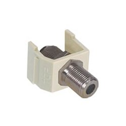 Hubbell - NSF70LA - NetSelect F-Connector, Nickel, F/F Coupler, Light Almond