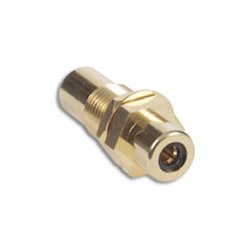 Hubbell - RFGBK100 - Bulk Connector, RCA F/F Coupler, Gold, 3/8, Black (Bag of 100)