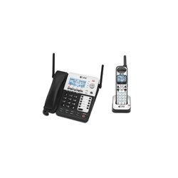 AT&T / VTech - SB67138 - AT&T SynJ SB67138 DECT Cordless Phone - Silver - Cordless - 4 x Phone Line - Speakerphone - Answering Machine - Backlight