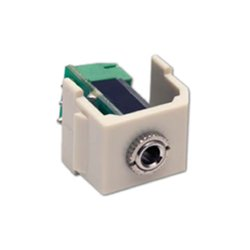 Hubbell - SF35STAL - AV Connector, Stereo Jack, 3.5mm, ST, Almond