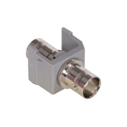 Hubbell - SFBGY - iStation Frame Module, Snap Fit Connector Fitting, BNC Connector, Gray