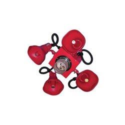Wheelock - STH-4MSR - STH Speaker/strobe cluster, 4 STH-15-SR, 1 DC-MAX-C, Steel, Red
