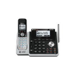 AT&T / VTech - 80-8661-00 - AT&T TL88102 DECT 6.0 1.93 GHz Cordless Phone - Cordless - 2 x Phone Line - Speakerphone - Answering Machine - Hearing Aid Compatible