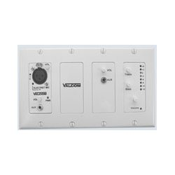 Valcom - V-9985-W - In-wall Mixer W/remote Input Module, Wh