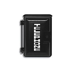 Viking - VE-9X12B-1 - Black Heavy-Duty Outdoor Enclosure with Silver Telephone Lettering, includes Interior Adapter Panel 1 for Mounting Viking Products